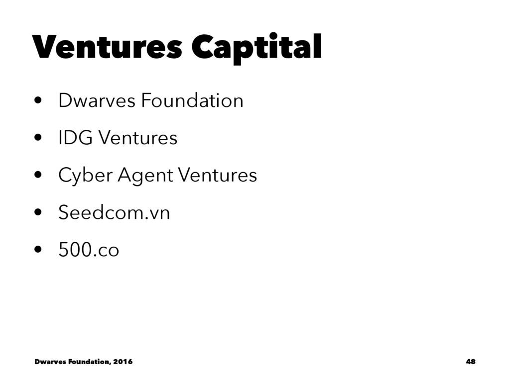 Ventures Captital • Dwarves Foundation • IDG Ve...