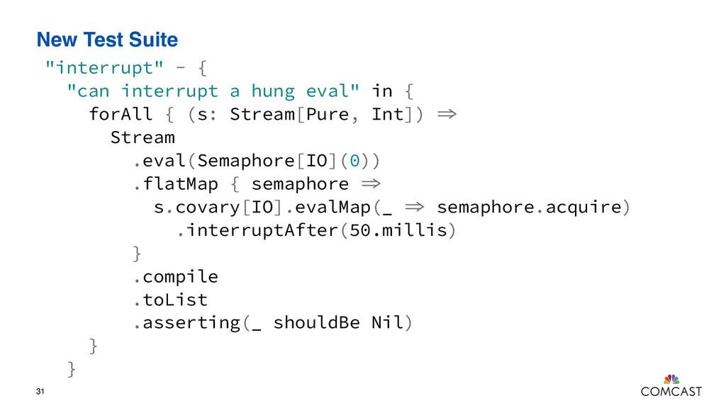 """New Test Suite 31 """"interrupt"""" - { """"can interrup..."""