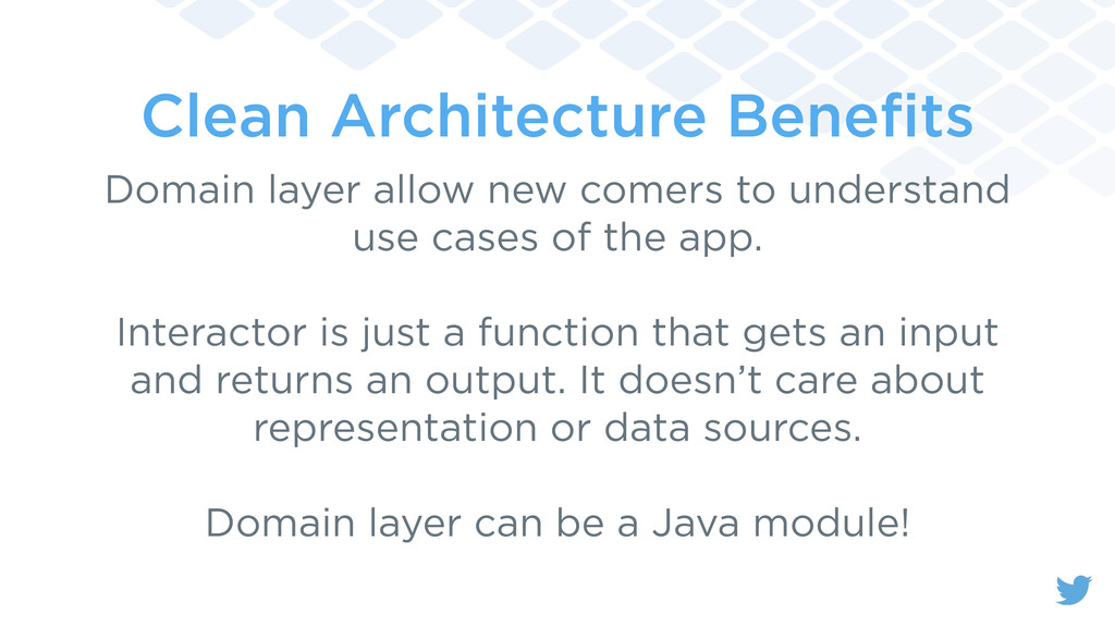 Clean Architecture Benefits Domain layer allow n...