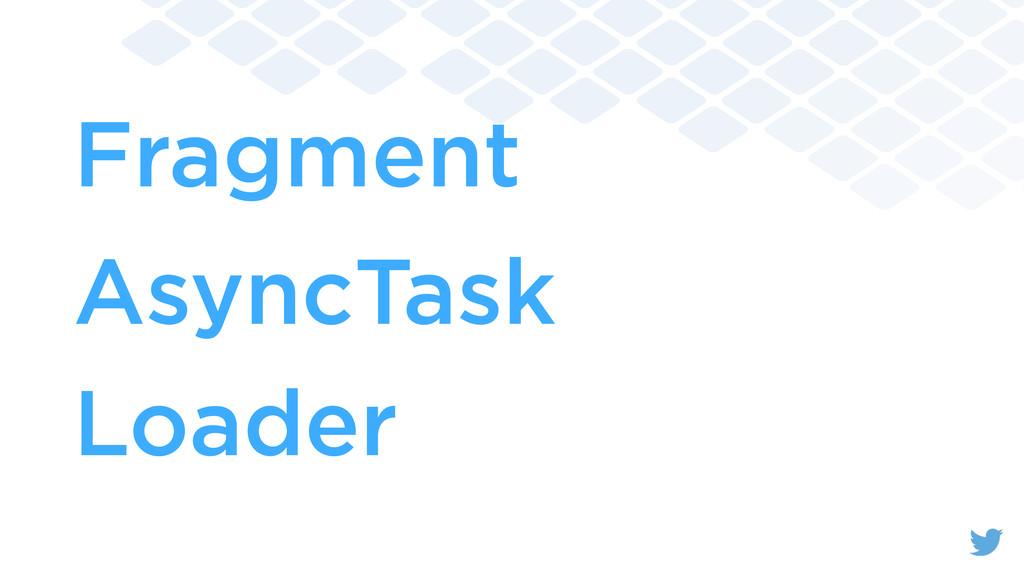 Fragment AsyncTask Loader