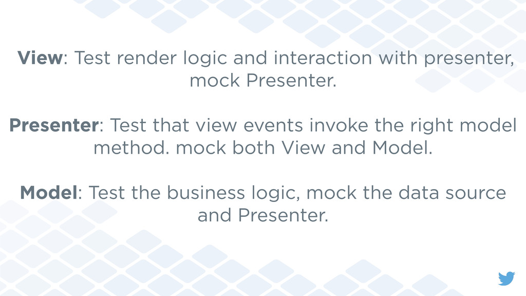 View: Test render logic and interaction with pr...