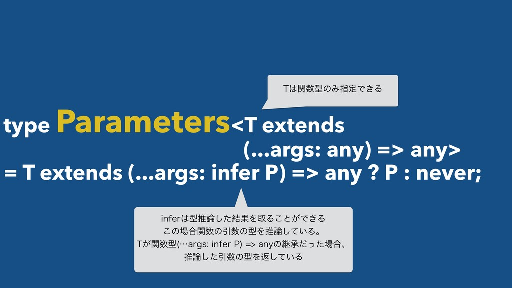 type Parameters<T extends (...args: any) => any...