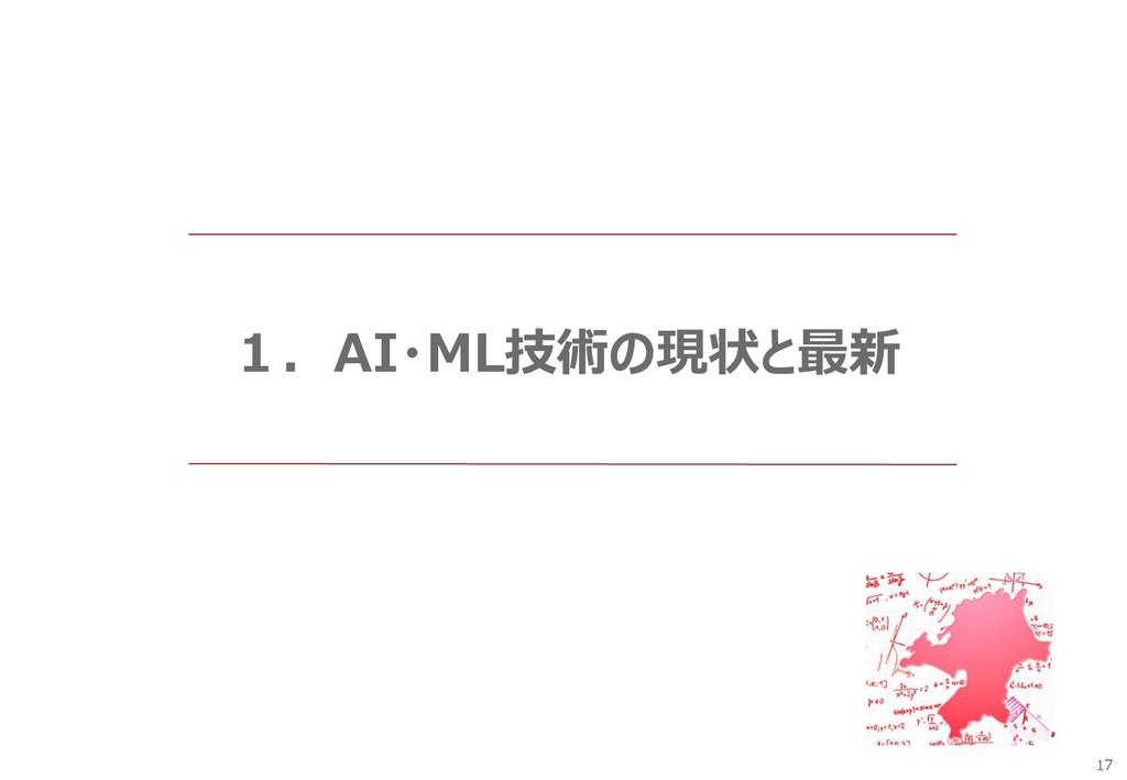 17 1.AI・ML技術の現状と最新