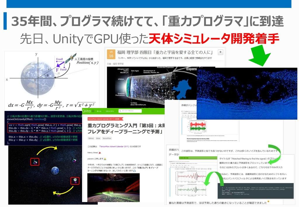 35年間、プログラマ続けてて、「重力プログラマ」に到達 先日、UnityでGPU使った天体シミ...