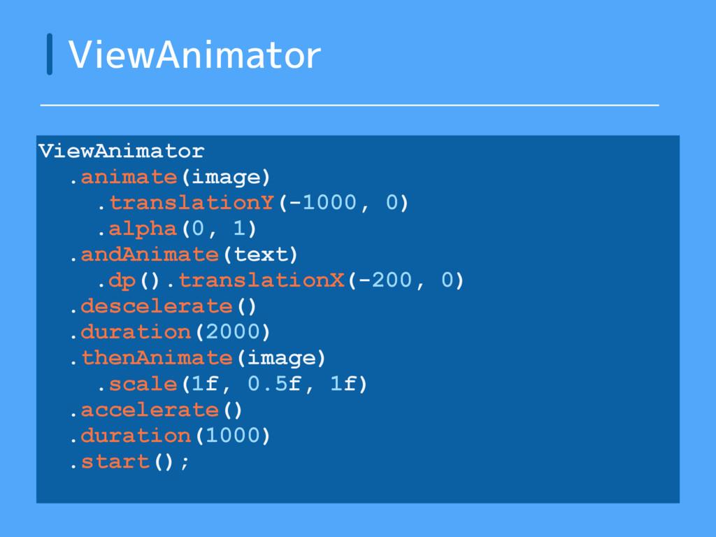 ViewAnimator ViewAnimator .animate(image) .tran...