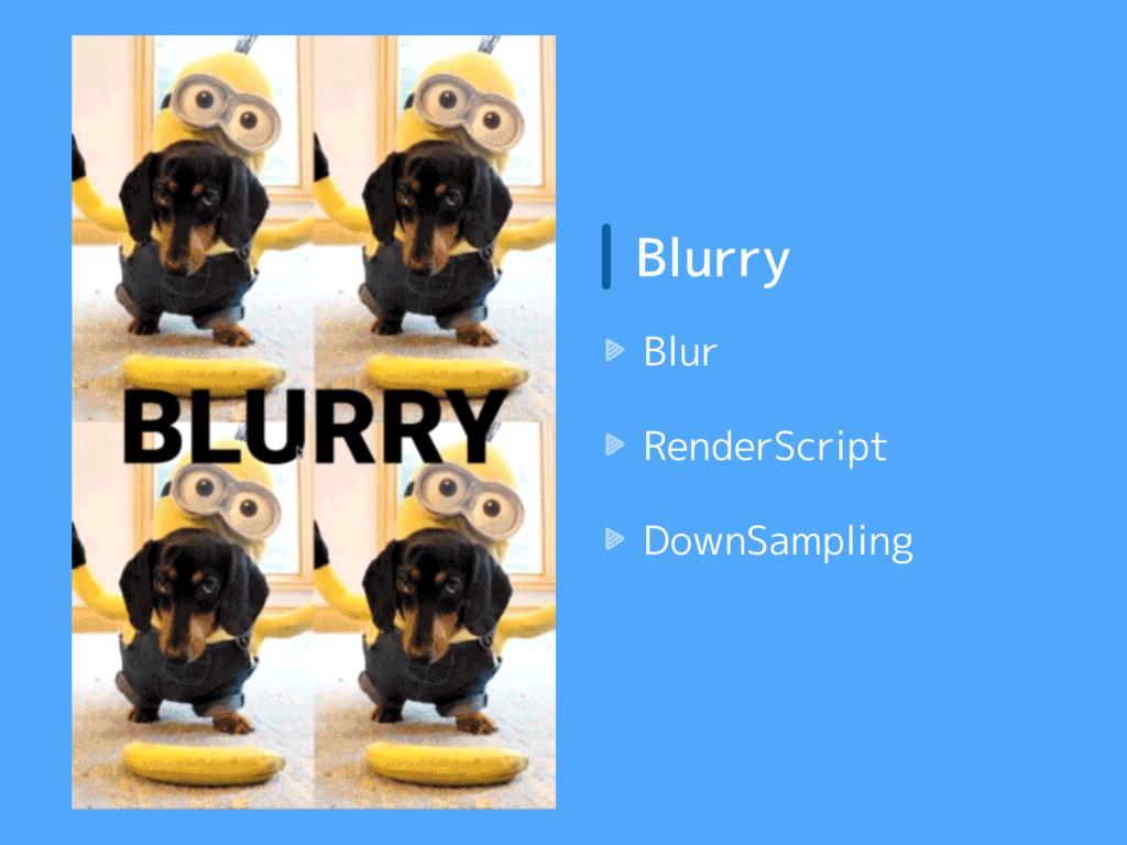 Blurry Blur RenderScript DownSampling