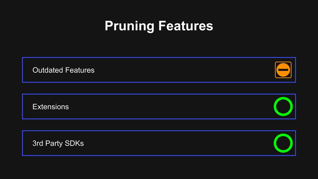 Pruning Features Outdated Features 3rd Party SD...