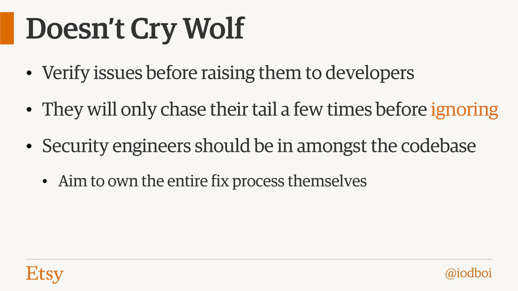 @iodboi Doesn't Cry Wolf • Verify issues before...