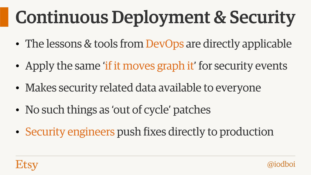 @iodboi Continuous Deployment & Security • The ...