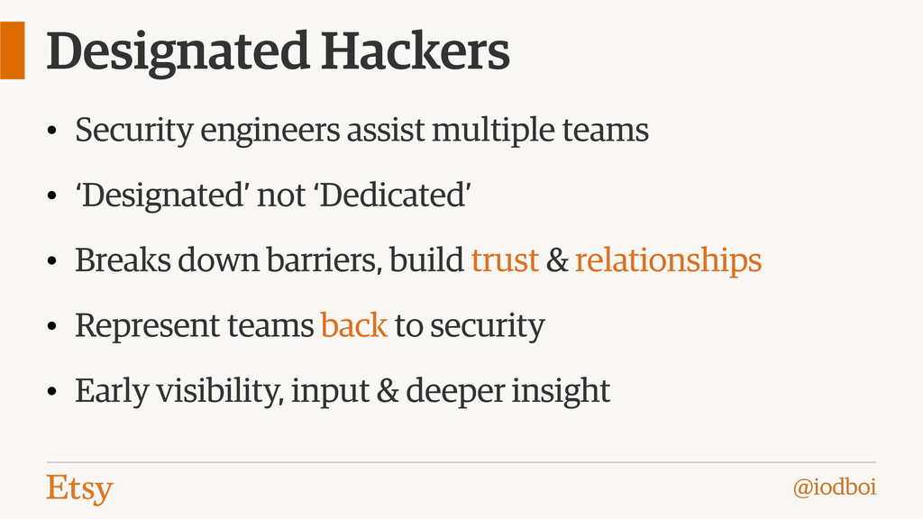 @iodboi Designated Hackers • Security engineers...