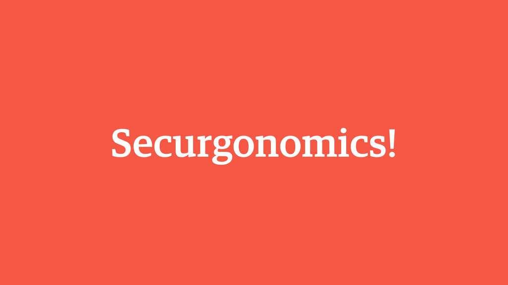 Securgonomics!