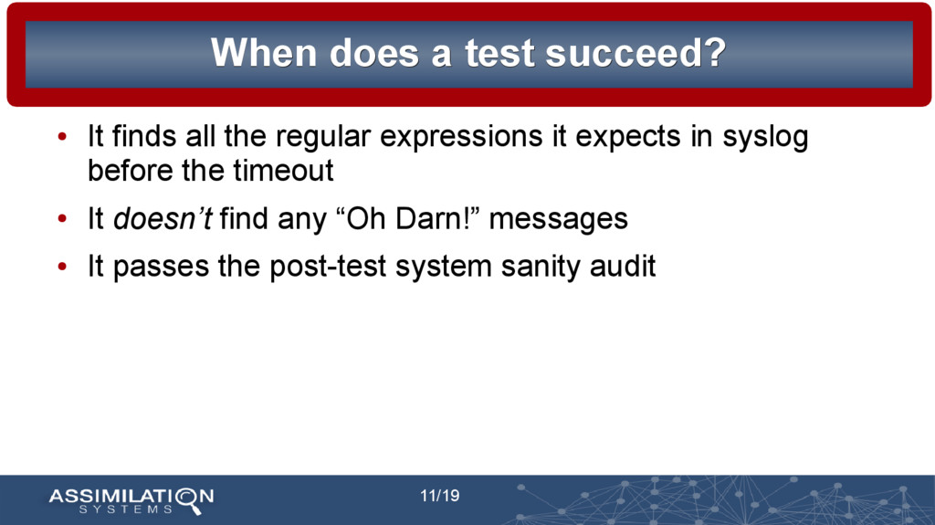 11/19 When does a test succeed? When does a tes...