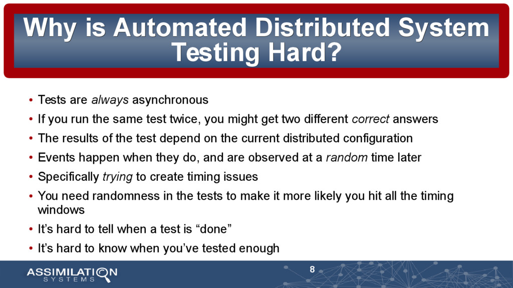 8 Why is Automated Distributed System Why is Au...