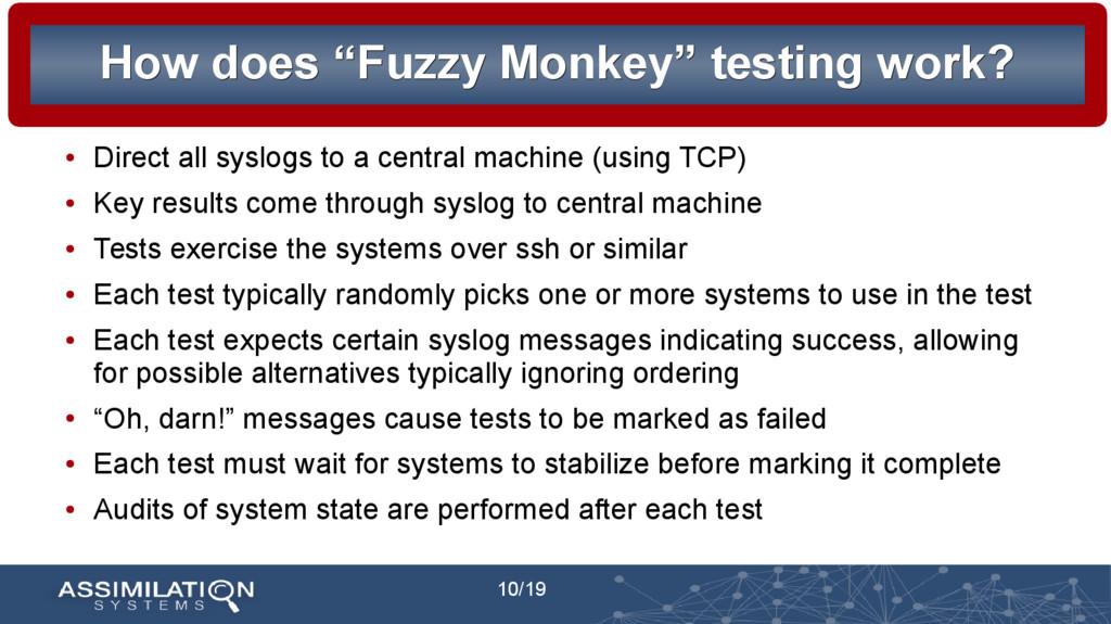 "10/19 How does ""Fuzzy Monkey"" testing work? How..."