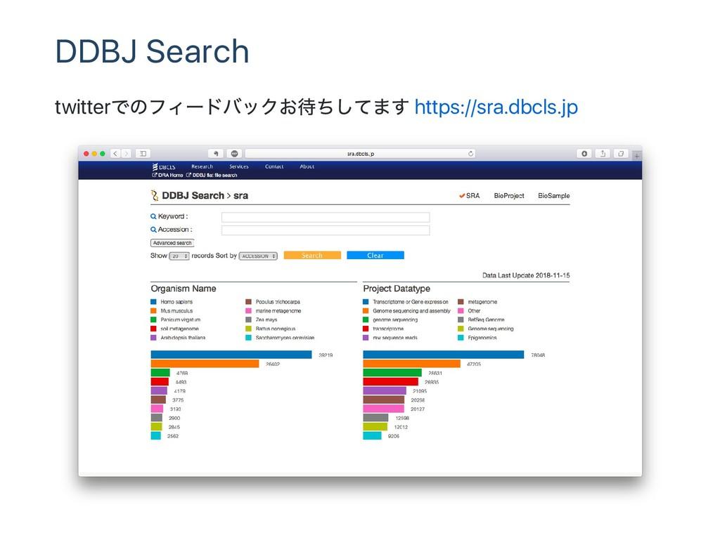 DDBJ Search twitter でのフィー ドバックお待ちしてます https://s...