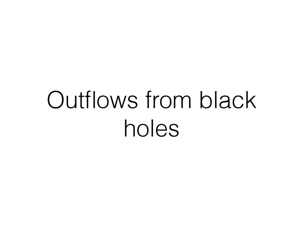 Outflows from black holes