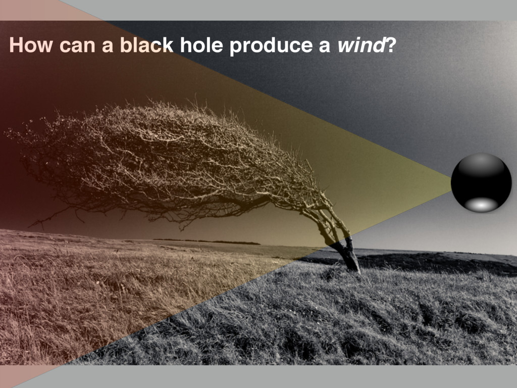 How can a black hole produce a wind?