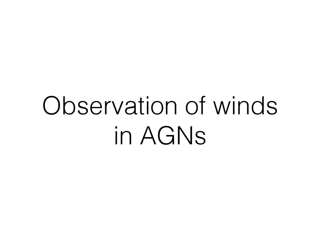 Observation of winds in AGNs