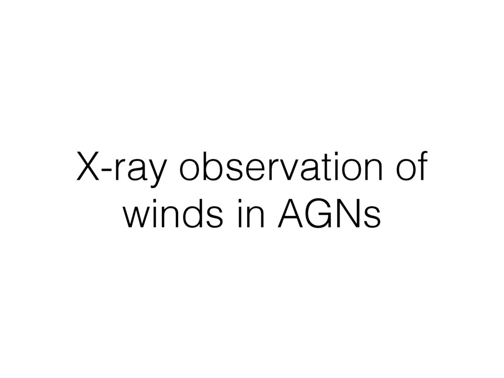 X-ray observation of winds in AGNs