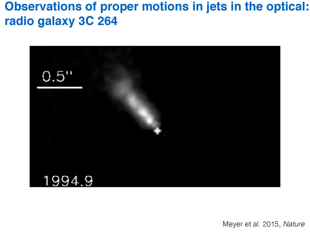 Observations of proper motions in jets in the o...