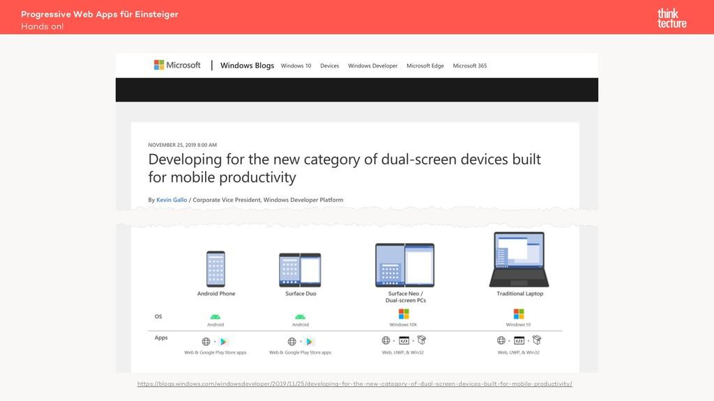 Progressive Web Apps für Einsteiger Hands on! h...