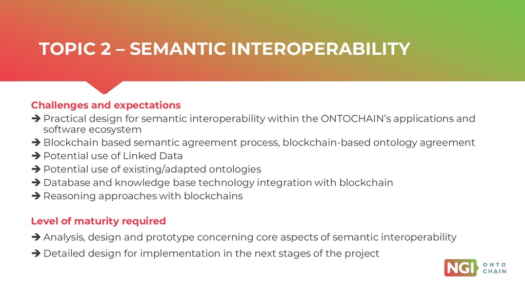 | ONTOCHAIN.NGI.EU Challenges and expectations ...