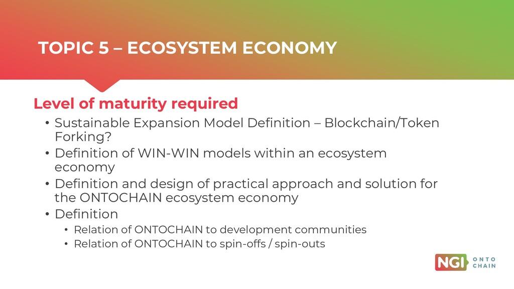 | ONTOCHAIN.NGI.EU • Sustainable Expansion Mode...