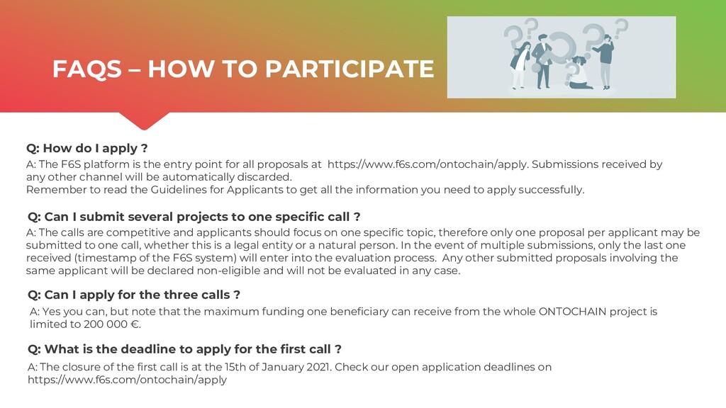 | ONTOCHAIN.NGI.EU Q: How do I apply ? Q: Can I...