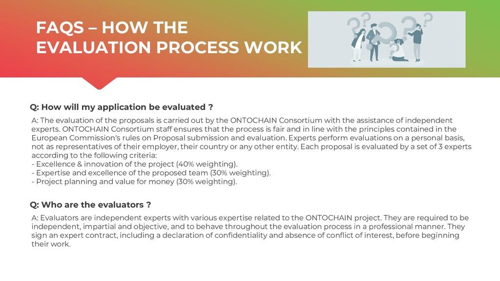 | ONTOCHAIN.NGI.EU Q: Who are the evaluators ? ...
