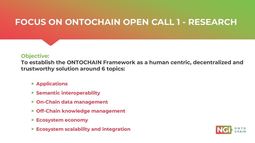 | ONTOCHAIN.NGI.EU FOCUS ON ONTOCHAIN OPEN CALL...