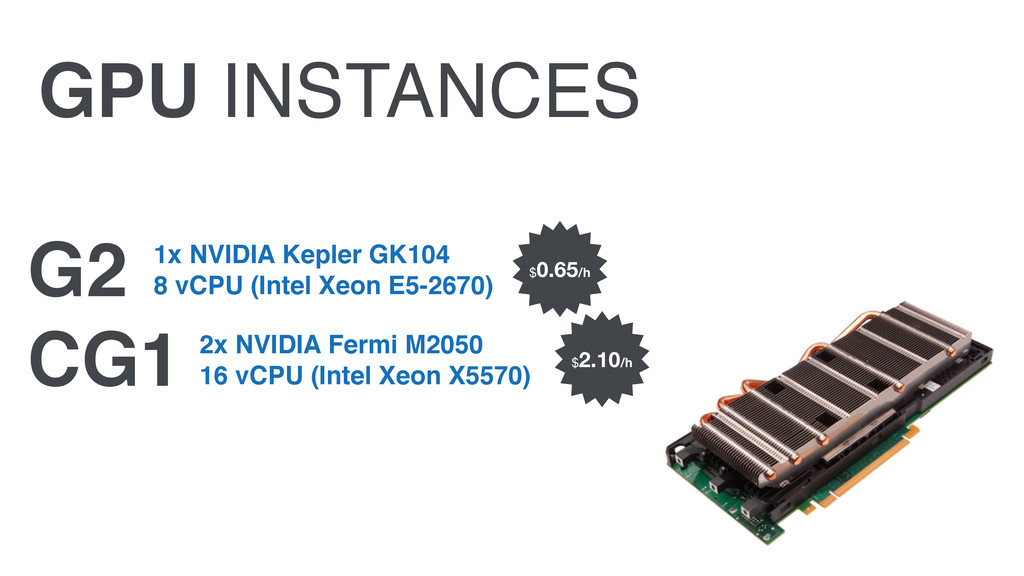 GPU INSTANCES G2 CG1 1x NVIDIA Kepler GK104 8 ...