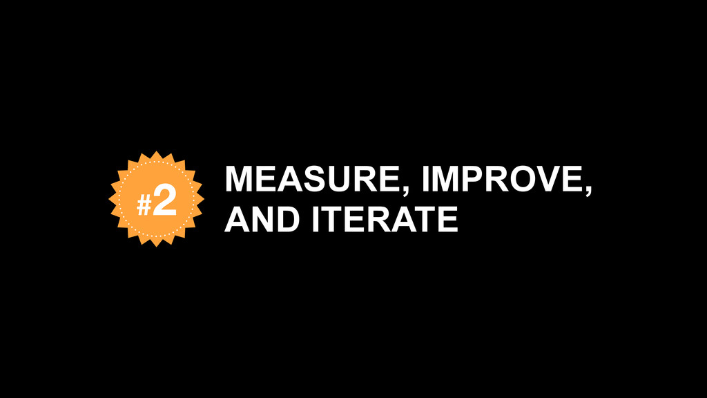 MEASURE, IMPROVE, AND ITERATE #2