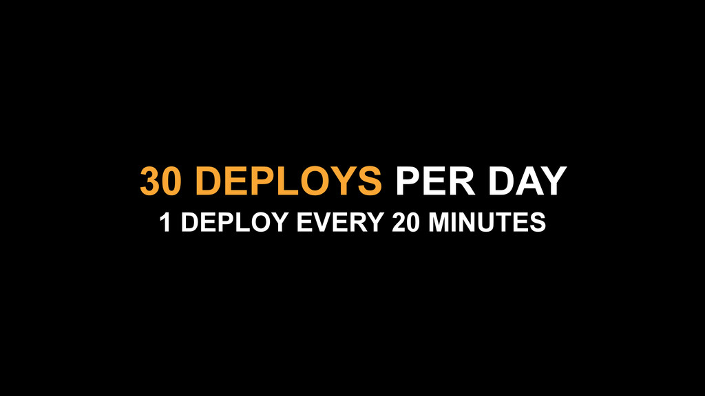 30 DEPLOYS PER DAY 1 DEPLOY EVERY 20 MINUTES