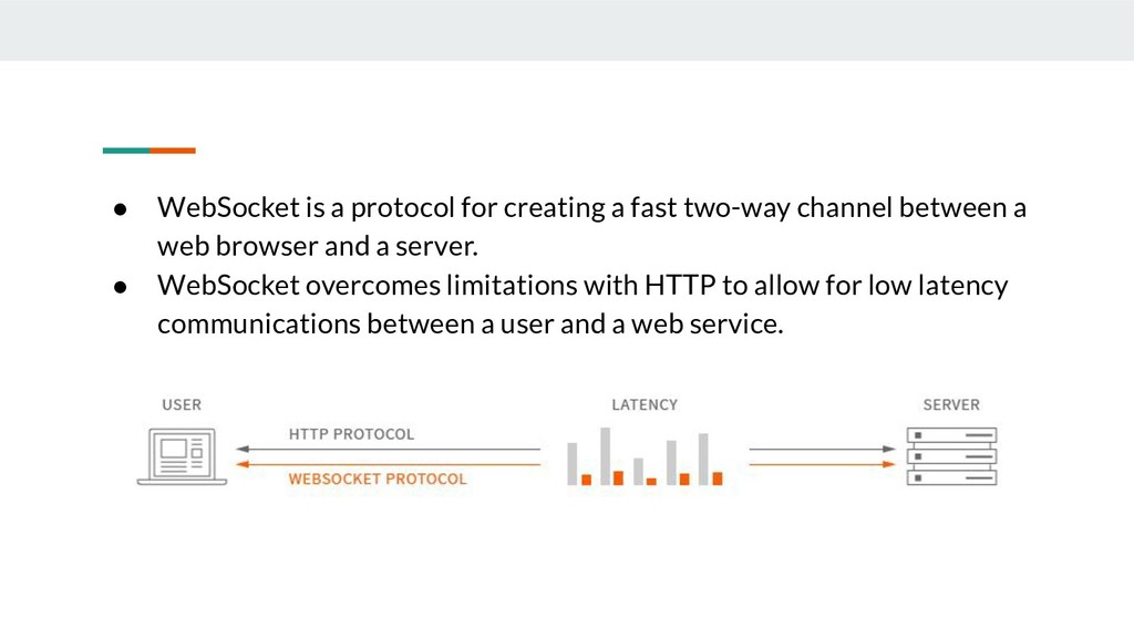 ● WebSocket is a protocol for creating a fast t...