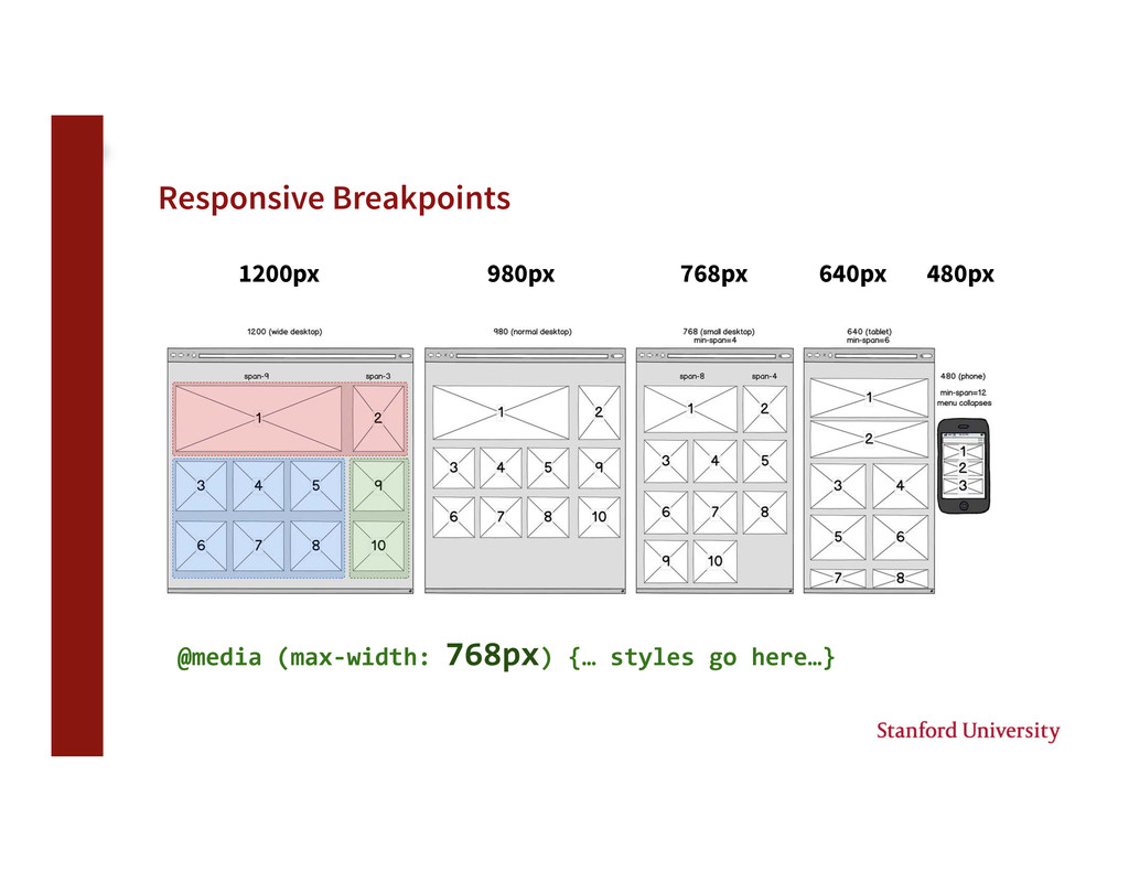Responsive Breakpoints 1200px 980px 768px 6...