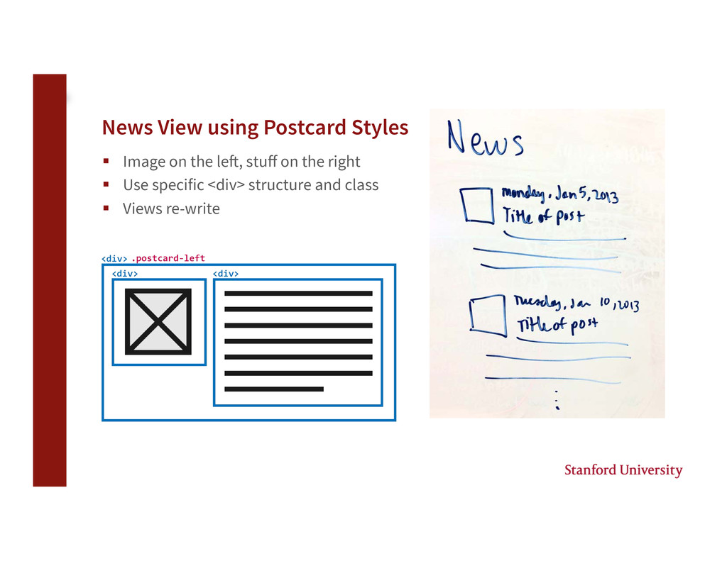 News View using Postcard Styles § Image on t...