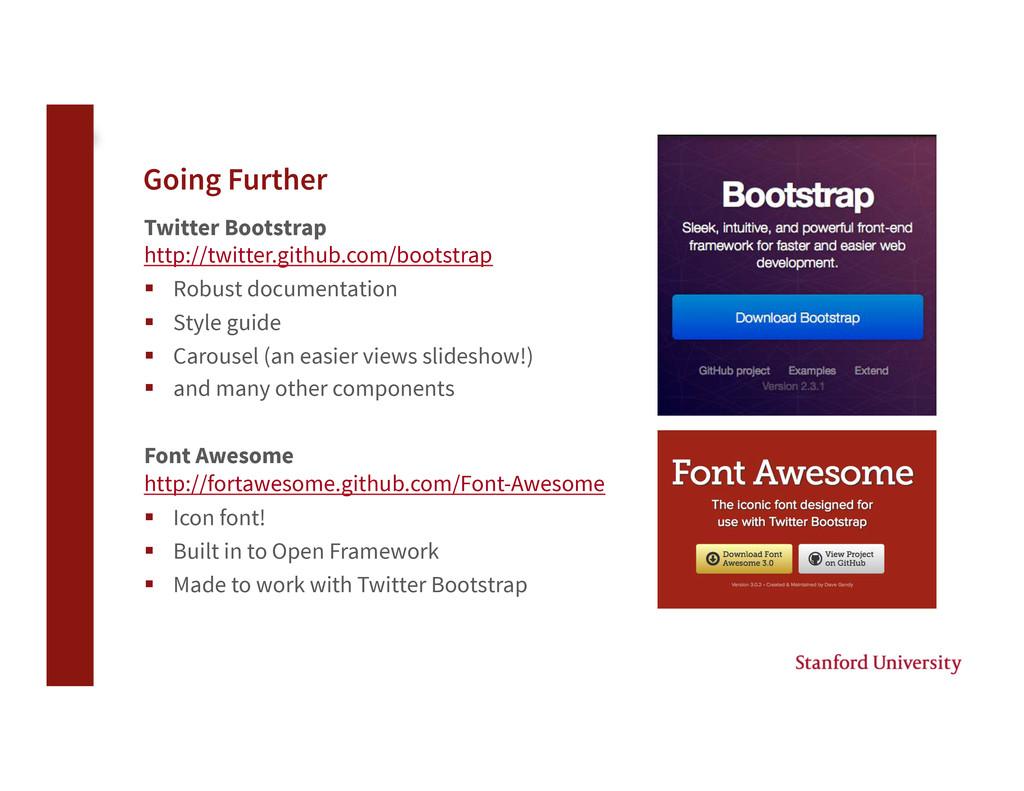 Going Further Twitter Bootstrap http://twitter...