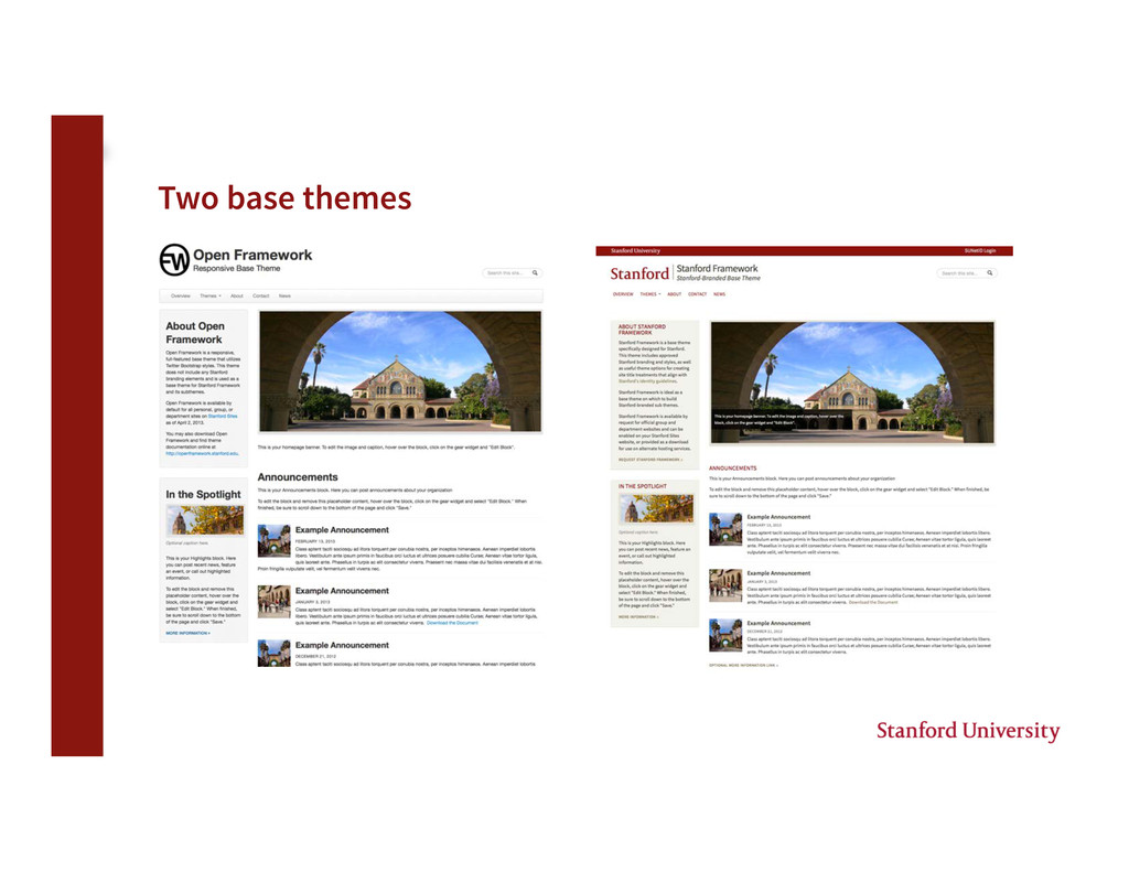 Two base themes