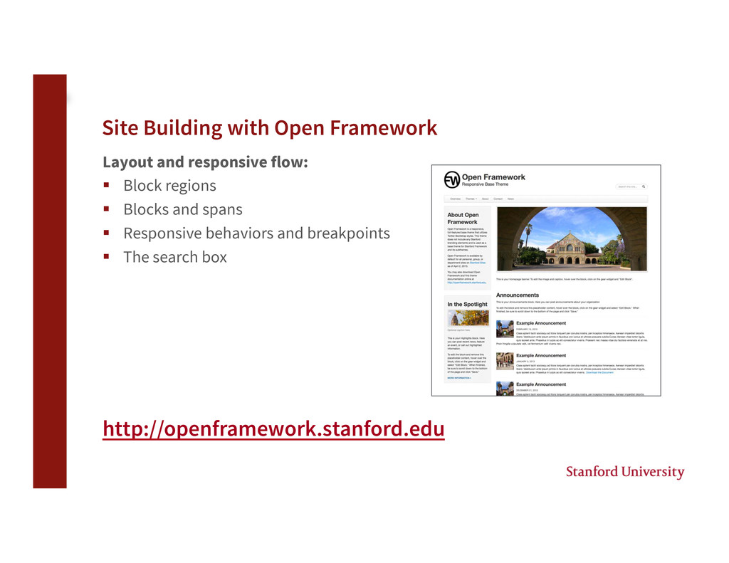 Site Building with Open Framework Layout and r...