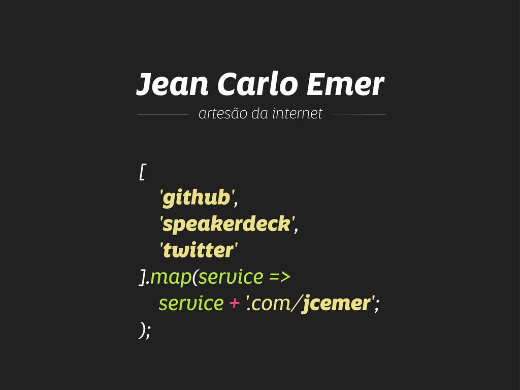 Jean Carlo Emer [ 'github', 'speakerdeck', 'twi...