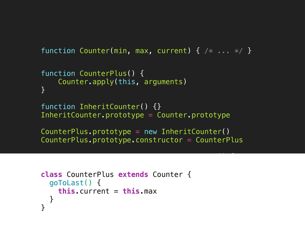 function CounterPlus() { Counter.apply(this, ar...