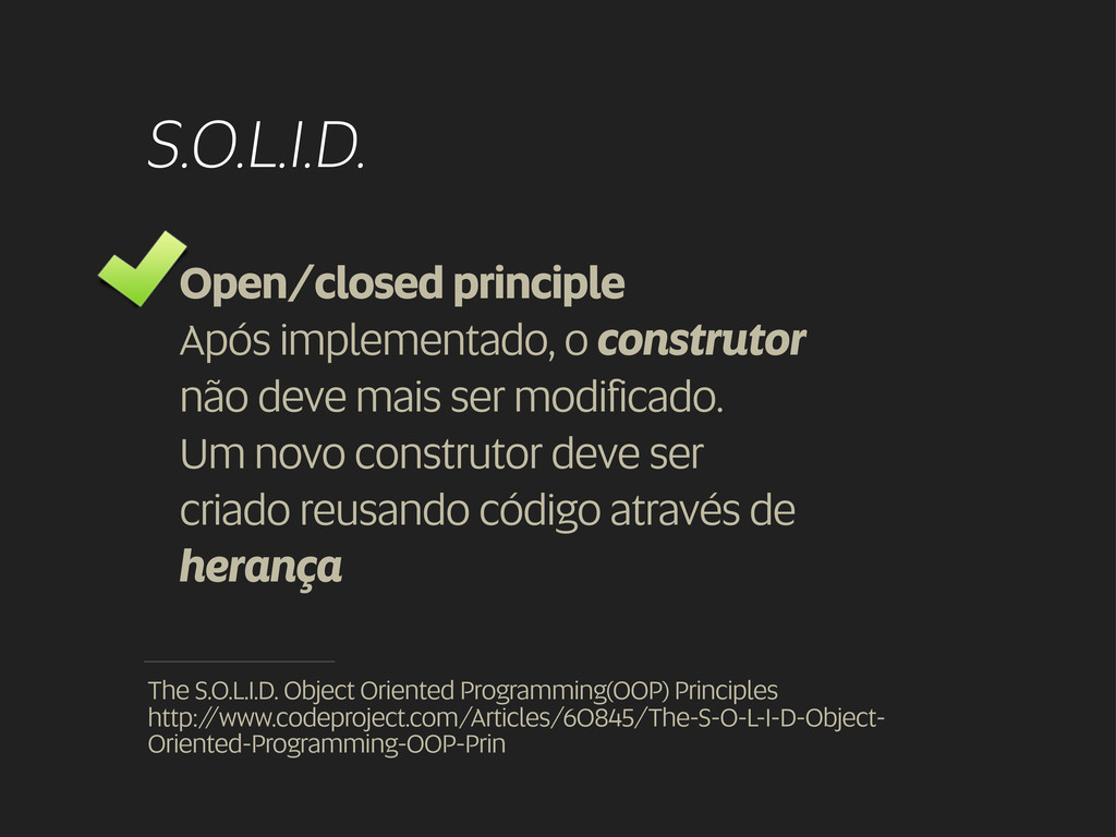 S.O.L.I.D. Open/closed principle Após implement...