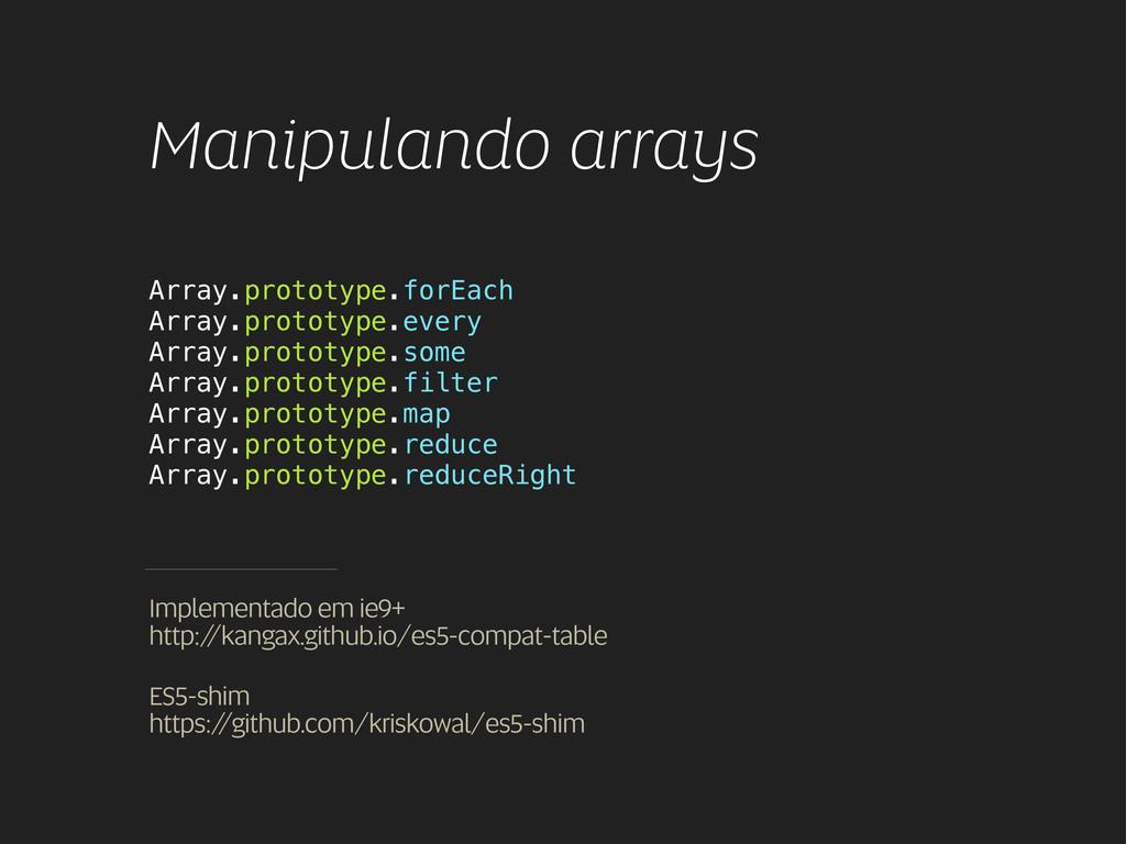 Manipulando arrays Array.prototype.forEach Arra...