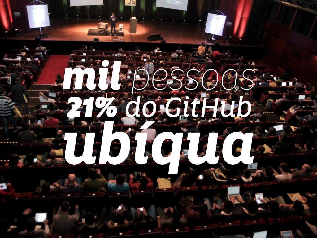 mil pessoas 21% do GitHub ubíqua
