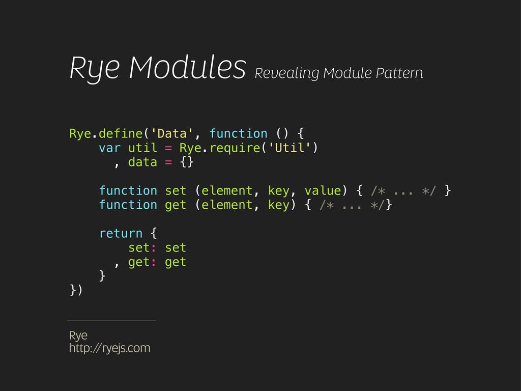 Rye.define('Data', function () { var util = Rye...