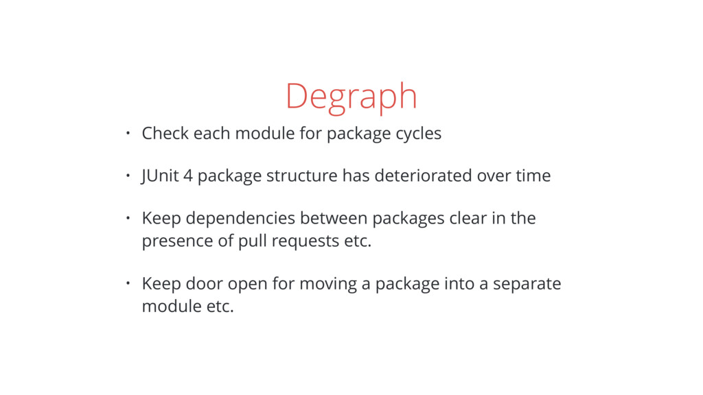 Degraph • Check each module for package cycles ...