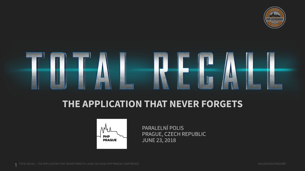 TOTAL RECALL - THE APPLICATION THAT NEVER FORGE...