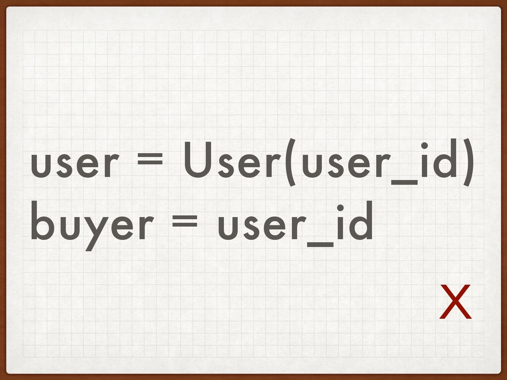 user = User(user_id) buyer = user_id