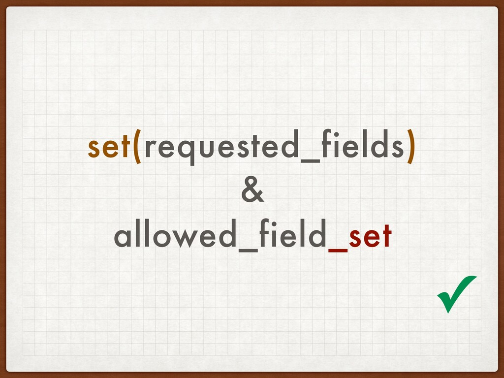 set(requested_fields) & allowed_field_set ✓