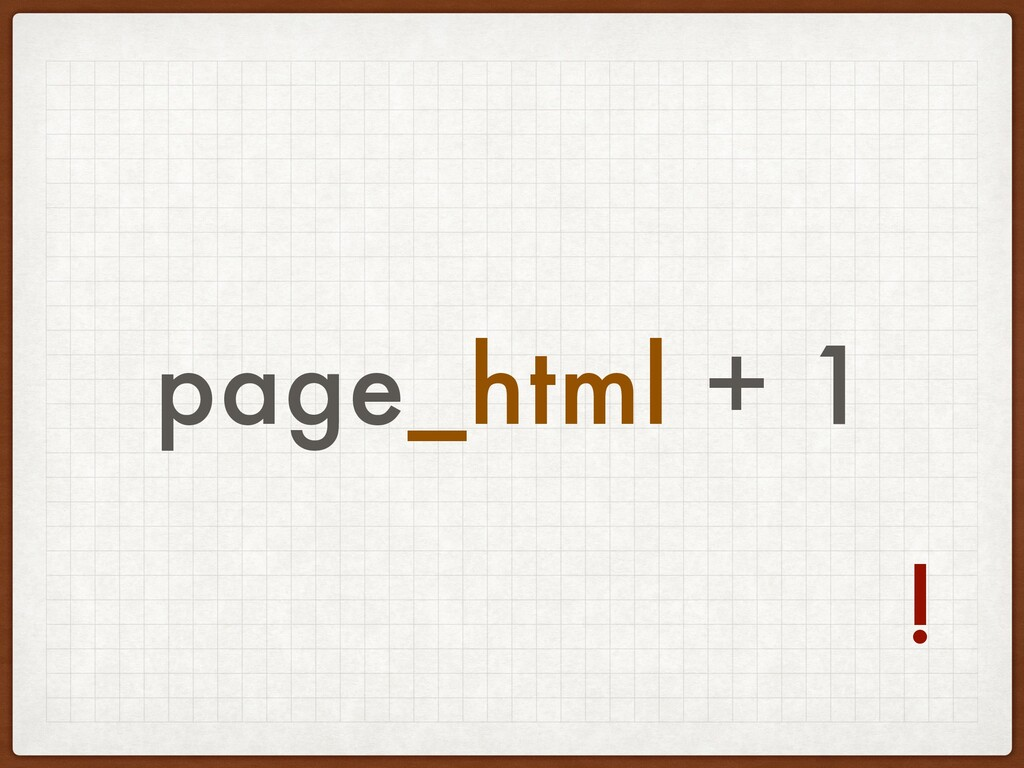 page_html + 1 !